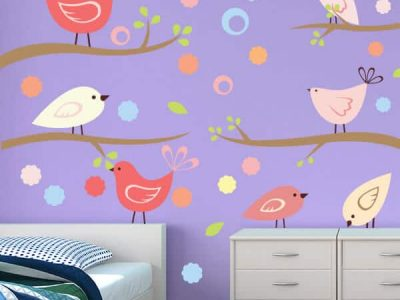 Birds and Dots Wall Decal Graphics