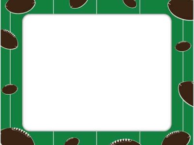 Restickable Football Photo Frame