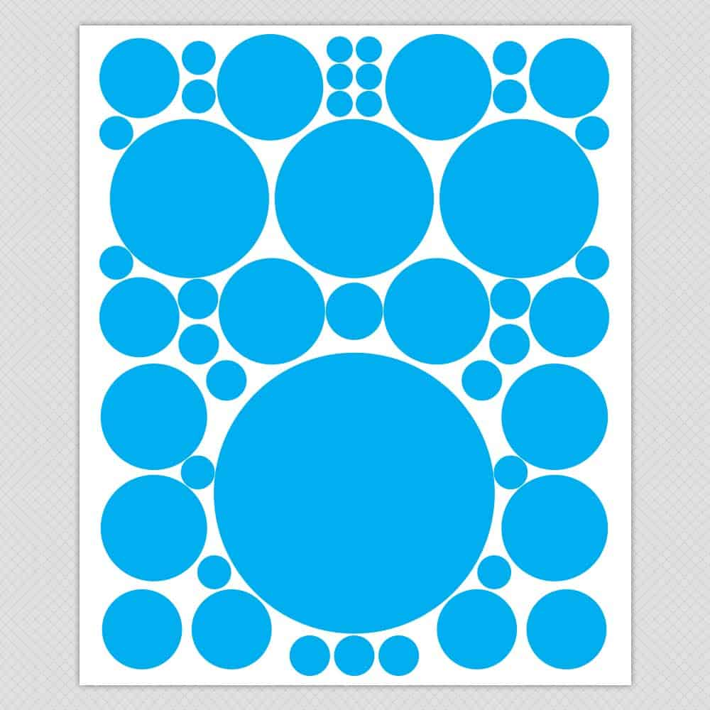 Simple Solid Dots And Circle Wall Decals Part 98