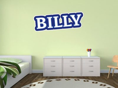 Construction Cone Zone Wall Name Sticker
