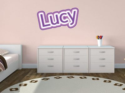 Cute Critters Restickable Wall Name