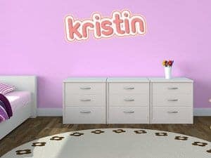 Birds and Dots Wall Name Restickable