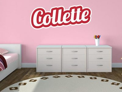 Stitched Hearts Wall Name Sticker