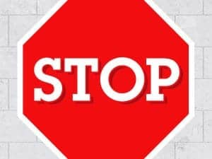 Stop Sign Restickable Sticker