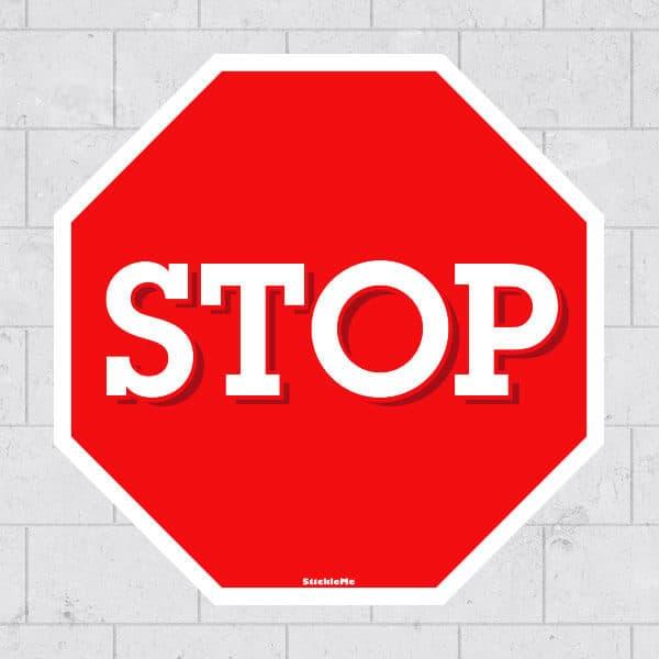 Stop Sign Restickable Sticker