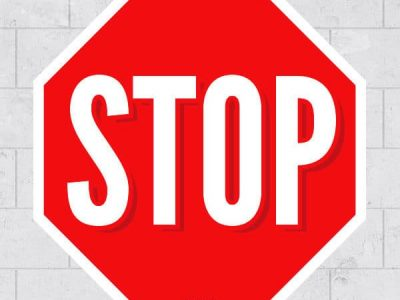 Removable Stop Sign Graphic