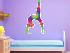 Bright Gradient Gymnast Silhouette