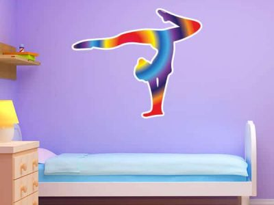 Rainbow Gymnast Silhouette