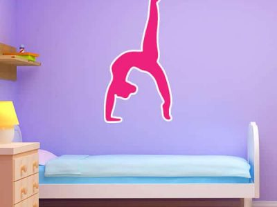 Pink Gymnast Silhouette
