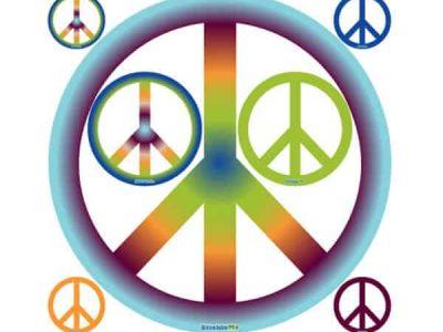 Groovy Restickable Peace Sign Set