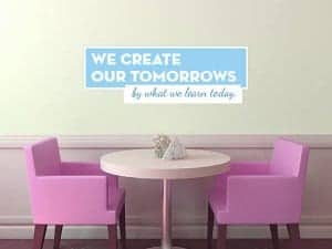 Wall Quote - We Create Our Tomorrows