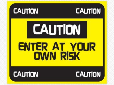 Caution Sign Door & Wall Restickable