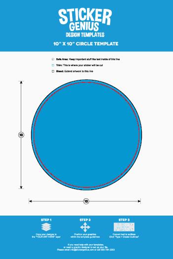 Circle Sticker Templates