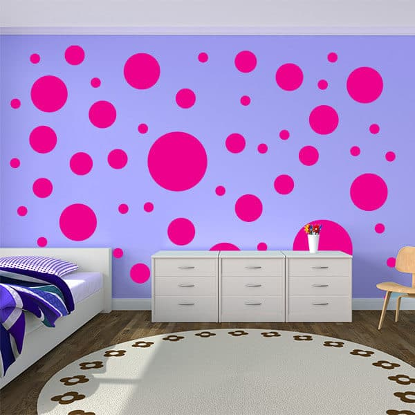Polka Dot Wall Stickers | Circle Wall Decals