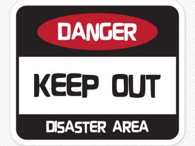Danger Wall Sticker