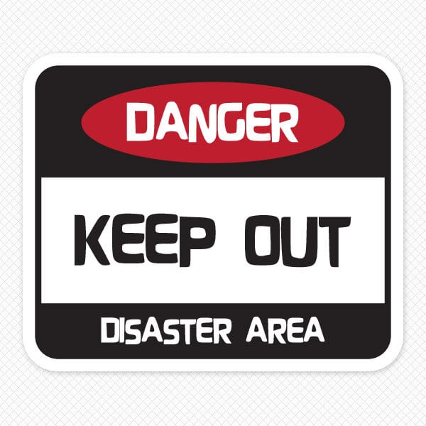 Danger Wall Sticker. Keep Out Signs for Bedroom Doors   Kids Bedroom Door Signs