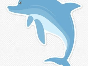 Dolphin Wall Sticker Restickable