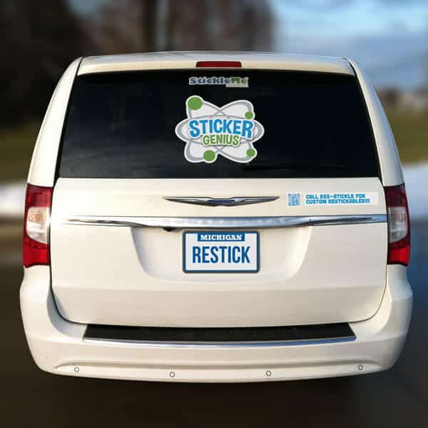 Full window restickable sticker