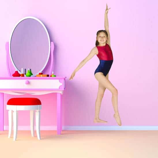 Girl Gymnast Photo Cutout Sticker