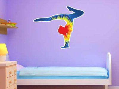 Tie Dye Explosion Gymnast Silhouette