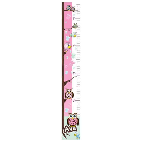Owls & Birds Growth Chart | Sticker Genius