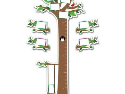 Repositionable Tree Growth Chart