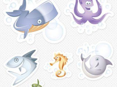 Marine Life Sticker Pack