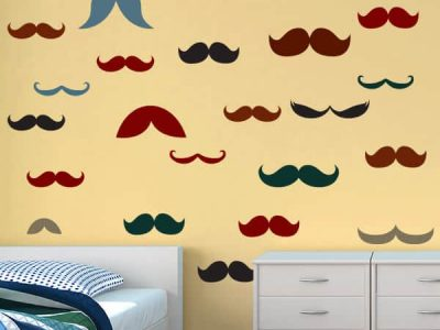 Restickable Moustace Stickers