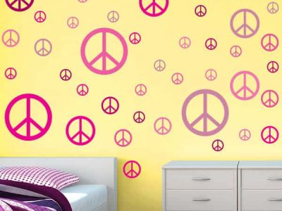 Solid Color Peace Signs Restickables