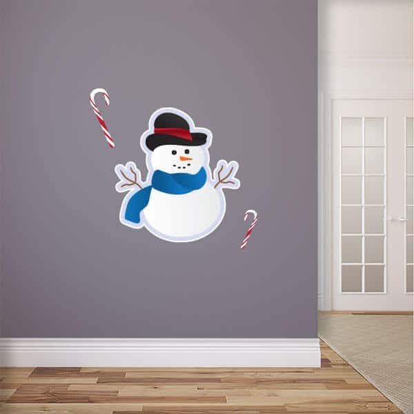 Snowman Reusable Wall Graphic