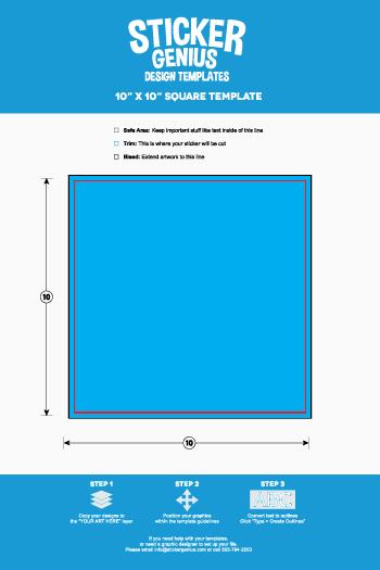 square sticker templates sticker genius. Black Bedroom Furniture Sets. Home Design Ideas