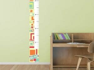 Artsy Squares Removable Growth Chart