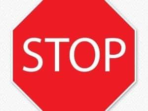 Restickable Stop Sign Sticker