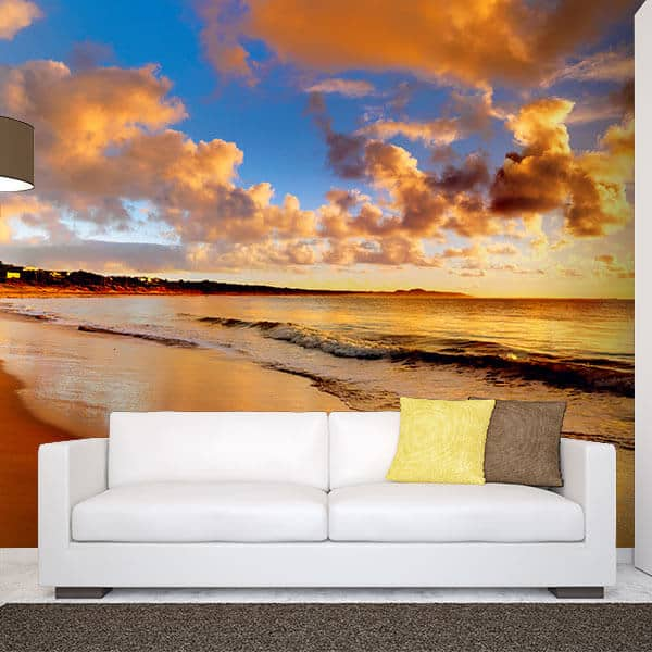 Wall Mural Decal Wall Mural Decal Sticker Beach Grass Waves Part 56