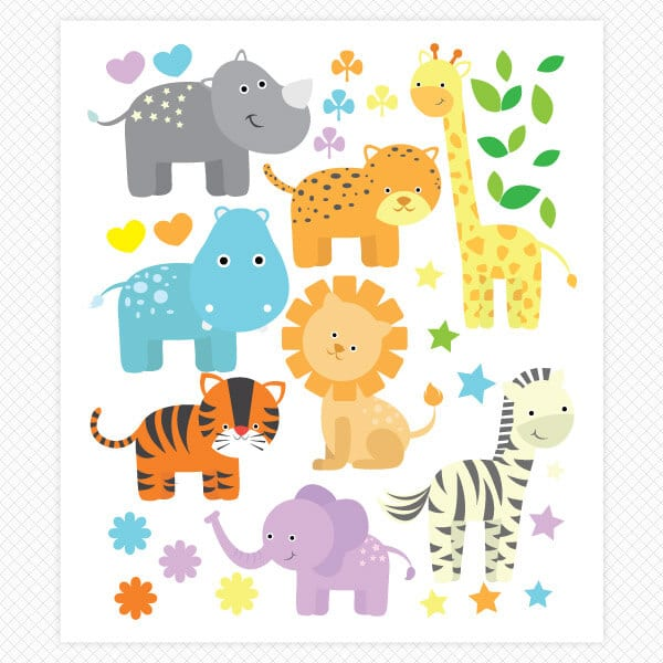Zoo Tastic Restickable Wall Graphics Sticker Genius