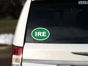 Ireland Green Car Sticker
