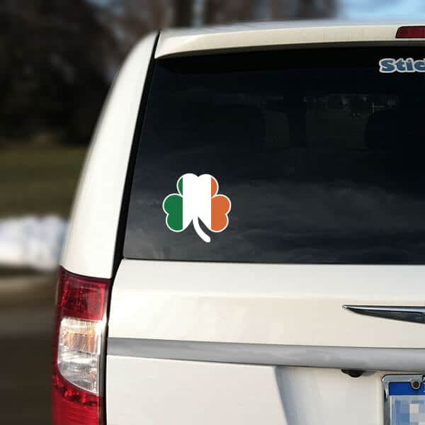 Irish flag shamrock