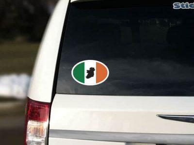 Ireland Oval with flag