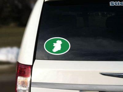 Ireland Green Oval Sticker