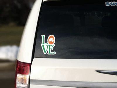 Car Sticker Love Ireland