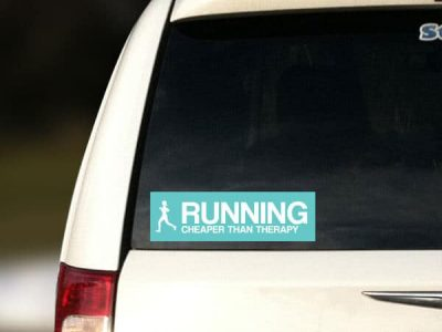 Running Restickable Car Sticker