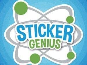 Sticker Genius Radial Gradient Logo