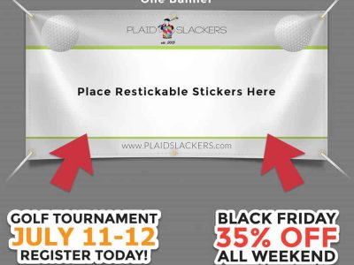 Banner With Reusable Stickers