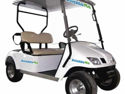 Removable Golf Cart Stickers