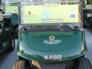 Reusable Golf Cart Advertisements