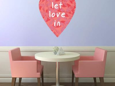 Let Love In Restickable Graphic