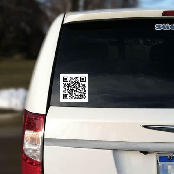 Personalized Qr Code Sticker Qr Code Car Sticker