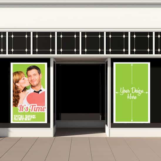Storefront See Thru Window Graphics
