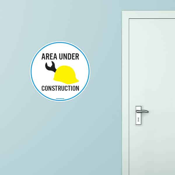 Area Under Construction Circle Wall Graphic