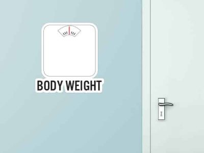 Body Weight Custom Wall Graphic